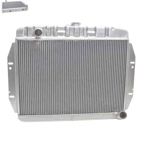 Griffin Radiators PerformanceFit Radiator for 1973-1986 Jeep CJ Chevy V8  Swap with Transmission Cooler