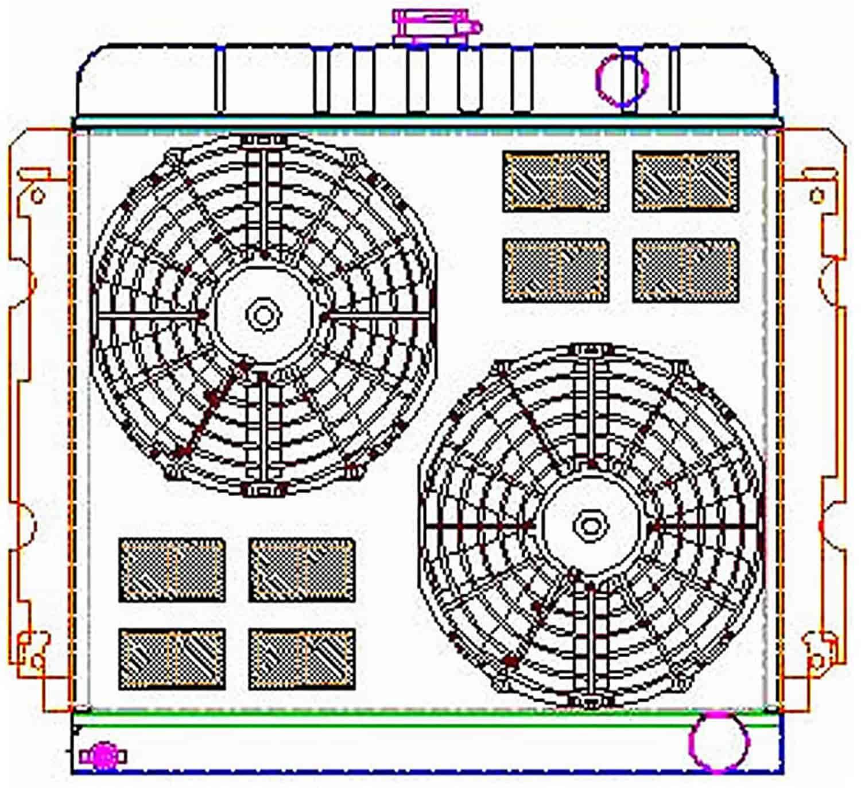 Griffin Radiators Cu 00044 Exactfit Radiator Combounit For 1970 Painless Wiring Diagram 72 Cuda