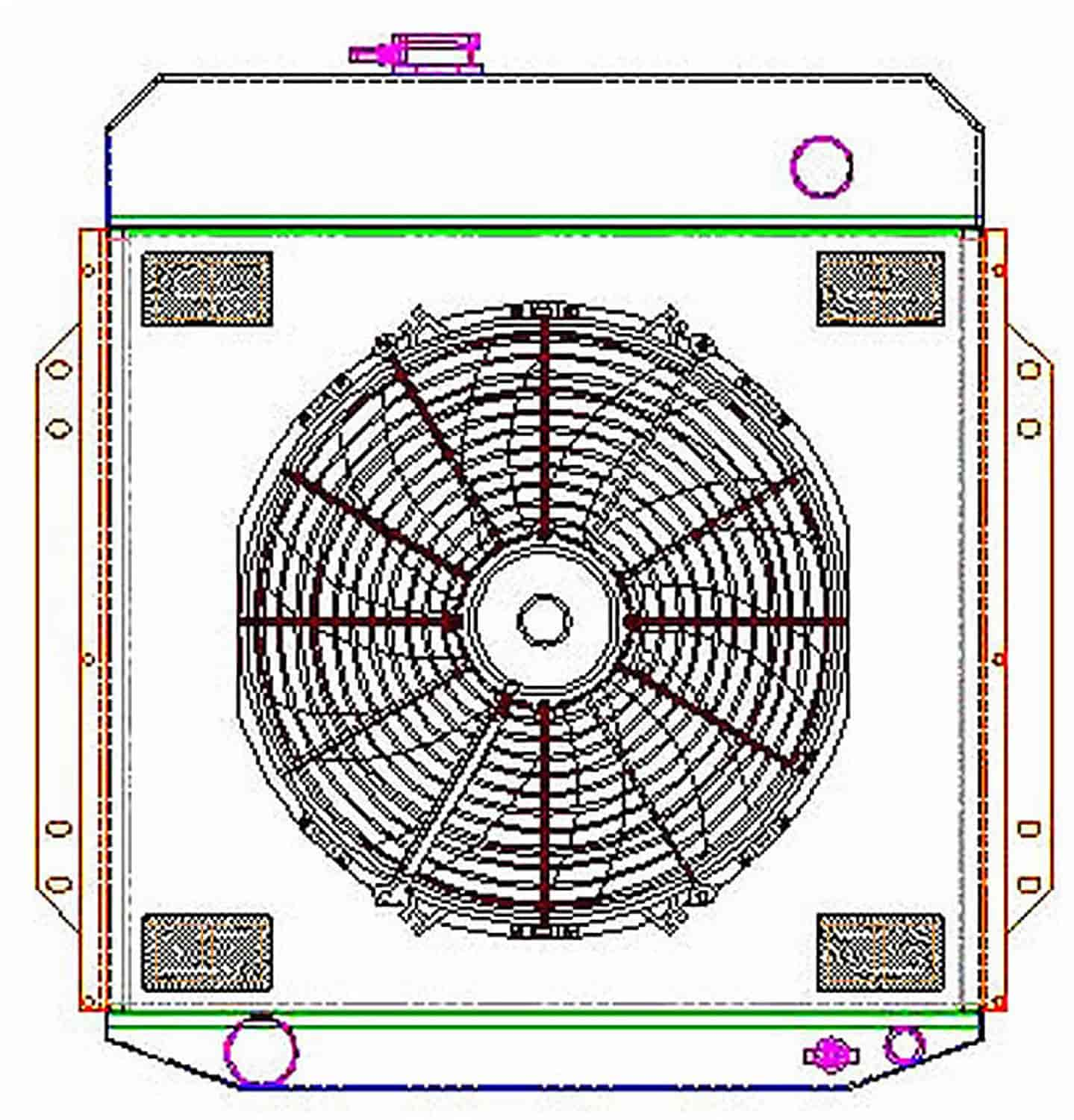 Griffin Radiators ExactFit Radiator ComboUnit for 1953-1956 Ford Truck on autozone electric fan wiring diagram, mustang electric fan wiring diagram, proform electric fan wiring diagram, imperial electric fan wiring diagram, advance auto parts electric fan wiring diagram, be cool electric fan wiring diagram,