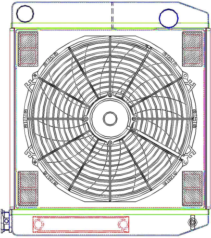 Griffen Electric Dual Fan Wiring Diagram Diagrams Griffin Radiators Cu 58182 Ts Megacool Combounit Universal Fit 02 Taurus