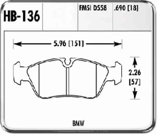 Hawk HB136F.690 - Hawk High Performance Brake Pads for BMW/Mini