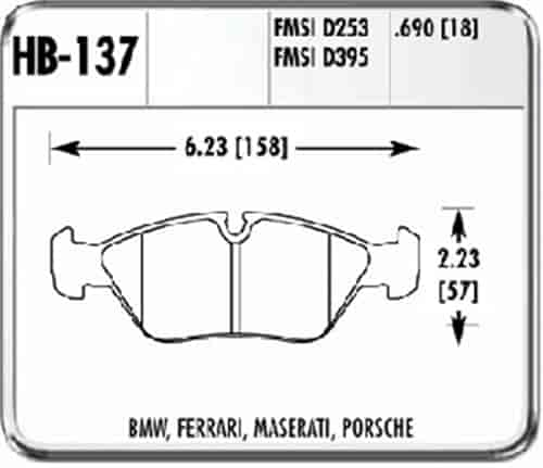 Hawk HB137F.690 - Hawk High Performance Brake Pads for BMW/Mini