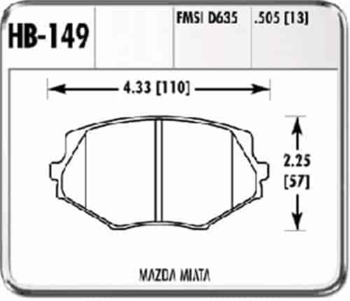 Hawk HB149F.505 - Hawk High Performance Brake Pads for Mazda
