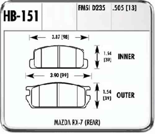 Hawk HB151F.505 - Hawk High Performance Brake Pads for Mazda
