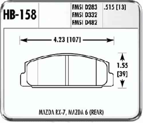 Hawk HB158F.515 - Hawk High Performance Brake Pads for Mazda