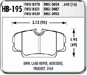 Hawk HB195F.640 - Hawk High Performance Brake Pads for BMW/Mini