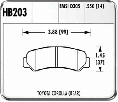 Hawk HB203F.550 - Hawk High Performance Brake Pads for Toyota