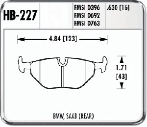 Hawk HB227F.630 - Hawk High Performance Brake Pads for BMW/Mini