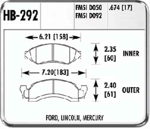 Hawk HB292F.674 - Hawk HPS Performance Brake Pads
