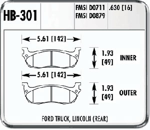 Hawk HB301F.630 - Hawk HPS Performance Brake Pads