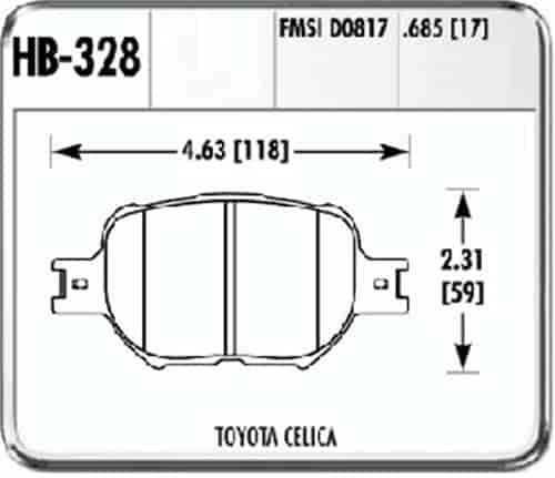 Hawk HB328F.685 - Hawk High Performance Brake Pads for Toyota