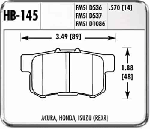 Hawk Performance HB145N.570 HP Plus Brake Pad