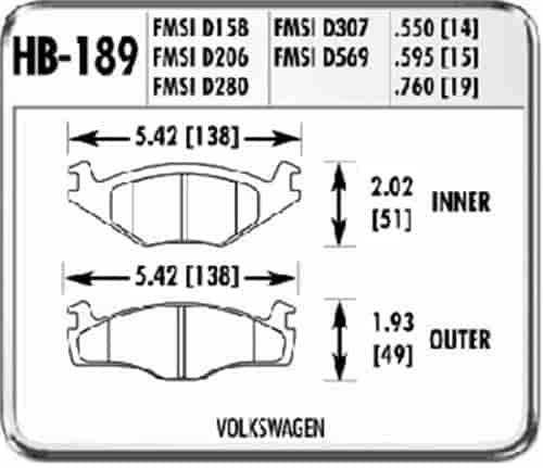 Hawk Performance HB126E.505 Disc Brake Pad