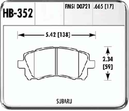 Hawk Performance HB352N.665 HP Plus Brake Pad