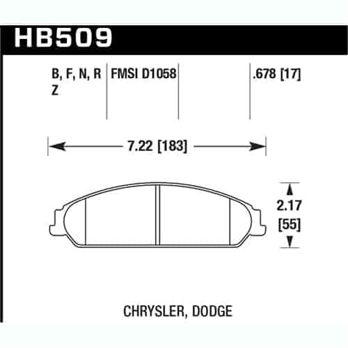Hawk Performance HB509Z.678 Performance Ceramic Brake Pad