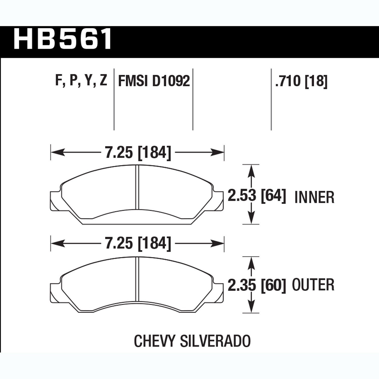 BENDIX SBM50 Stop By Brake Pad 4 Pack