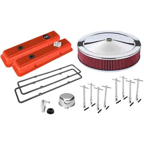 Holley Muscle Series Valve Cover Kit Includes: Valve Covers