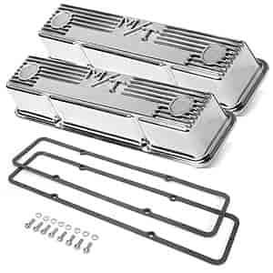 Holley 241 82k M T Finned Aluminum Valve Cover Kit