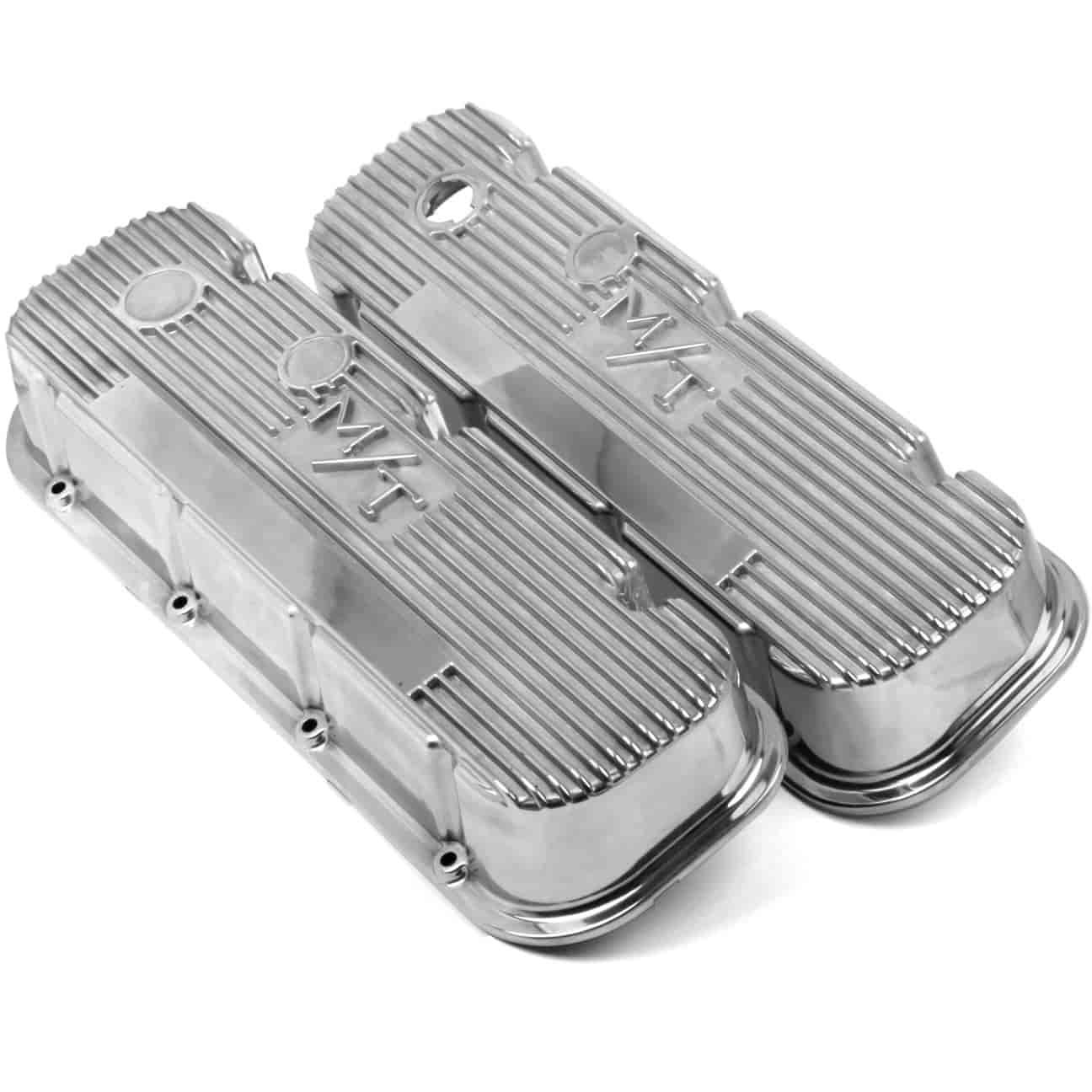 Holley 241-84 - Holley M/T Finned Aluminum Valve Covers