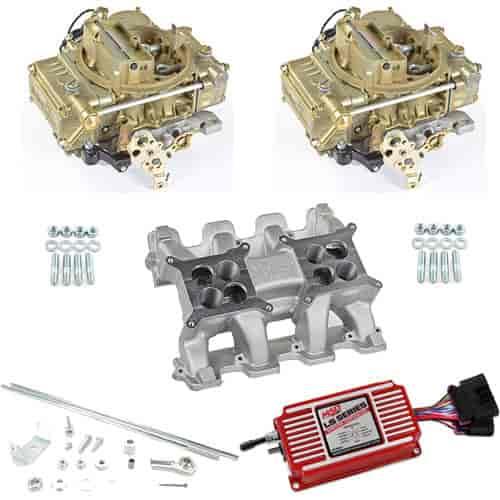 Holley LS Dual Carburetor Intake Manifold Kit