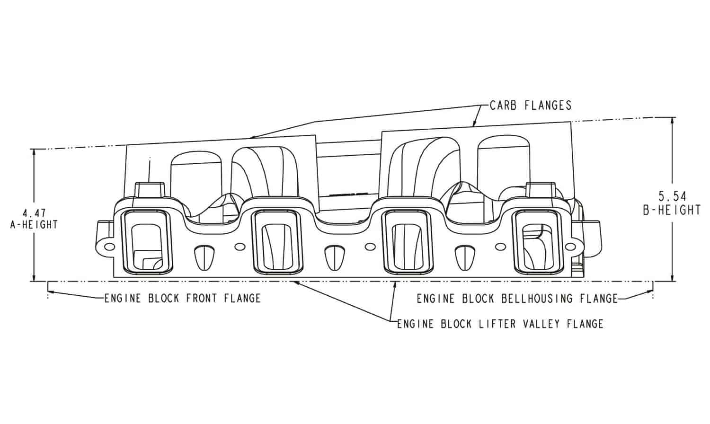 Holley LS Dual Carburetor Intake Manifold