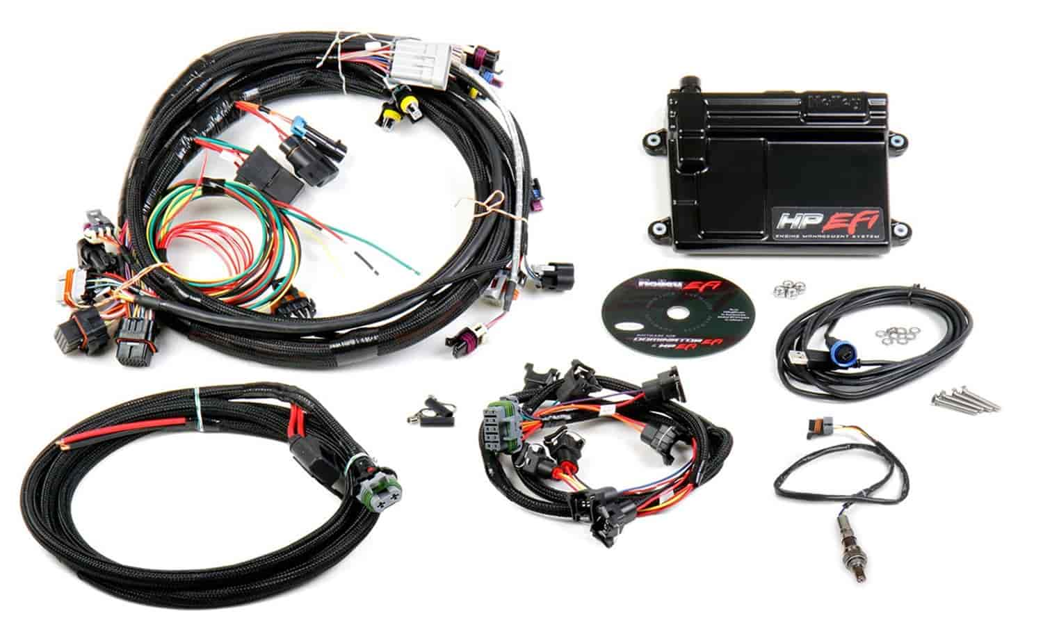 holley 550 602n hp efi ecu & harness kit gm ls1 ls6 jegs 2002 ls1 engine wiring diagram ls1 computer and wiring harness #8