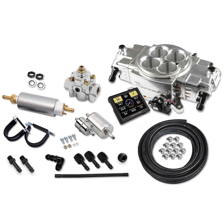 Holley Black Sniper EFI Fuel Injection System Complete Master Kit