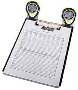 JOES Racing Products 28326 - JOES Racing Products 2-Watch Clipboard & Lap Sheets