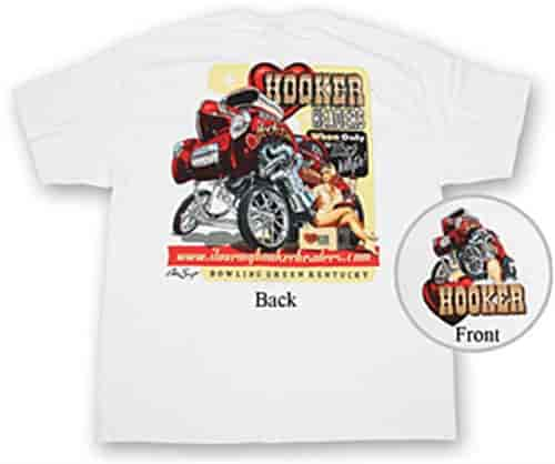 Hooker Headers Up Retro White T-Shirts