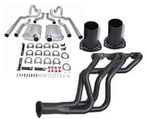 Hooker Headers 2451K - JEGS/Hooker Small Block Chevy Header Back Exhaust Kit