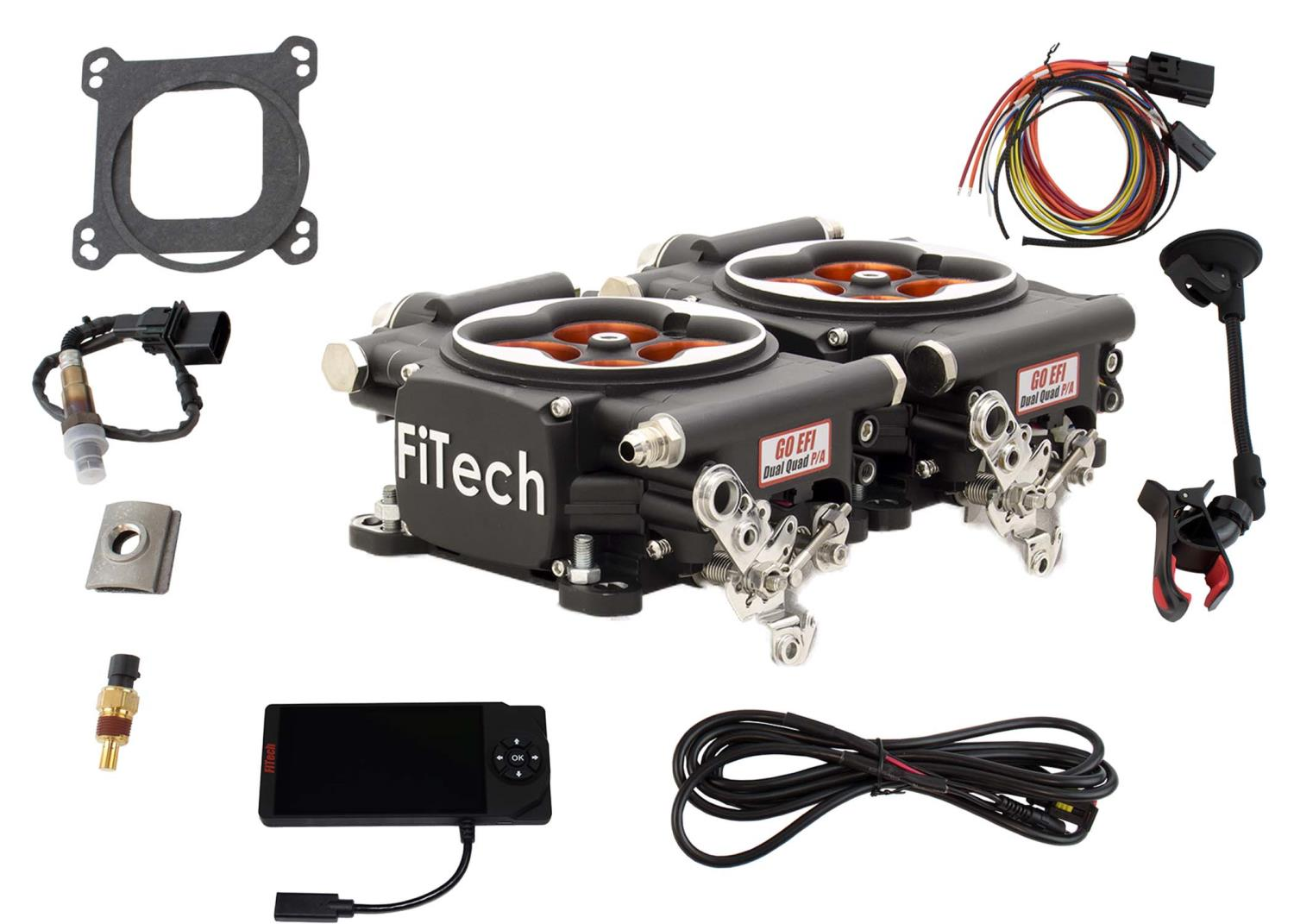 FITech Fuel Injection Go EFI 2x4 1200 HP Power Adder Throttle Body System  Basic Kit