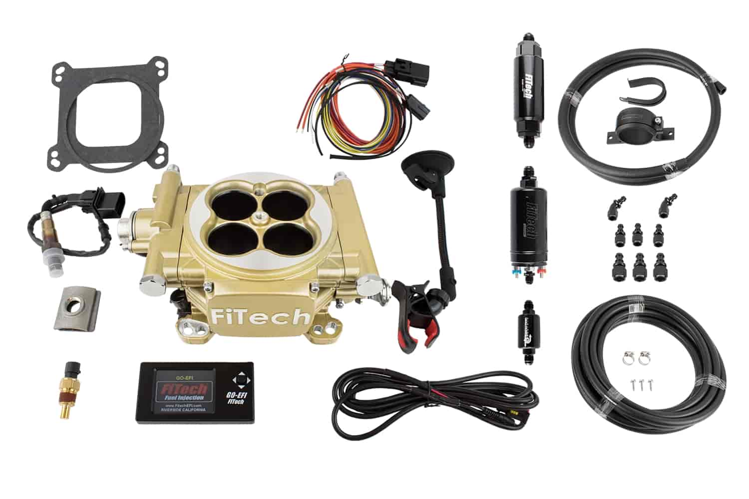 FITech Fuel Injection Easy Street EFI 600 HP Throttle Body System Master  Kit Includes: In-line Fuel Pump