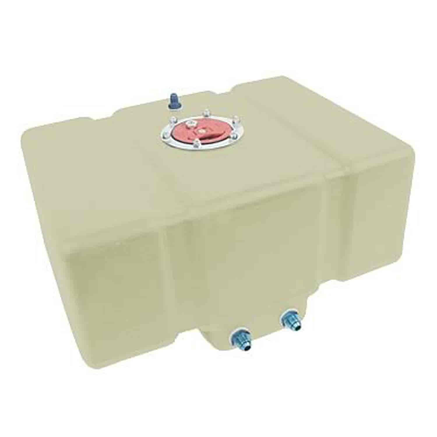 JAZ Products Drag Race Fuel Cell 8-Gallon Horizontal Natural with Foam