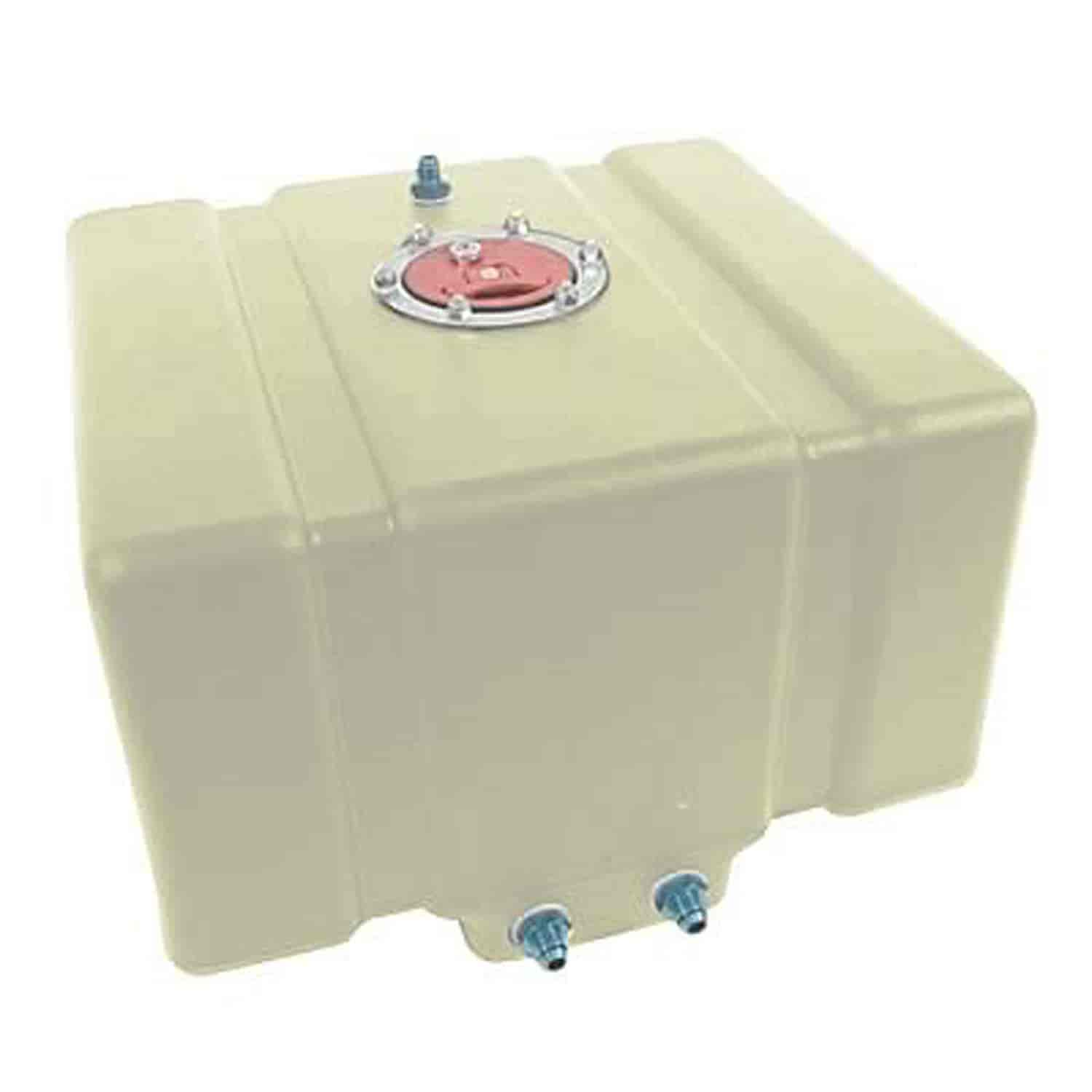 JAZ Products Drag Race Fuel Cell 12-Gallon Horizontal Natural without Foam