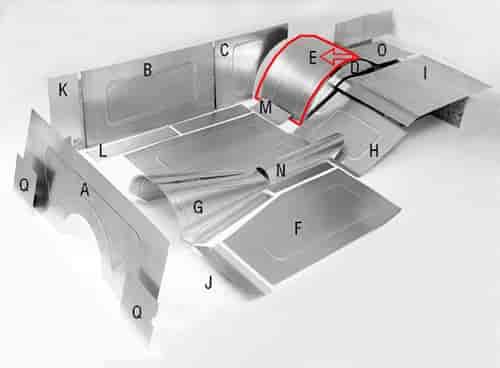 Jegster 40504e Aluminum Wheel Tub Tops E Jegs