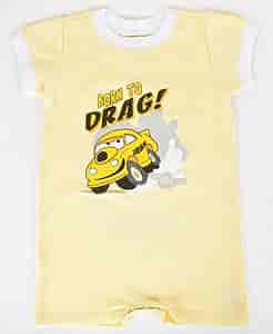 JEGS 001302 - JEGS Born To Drag Infant Romper