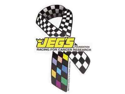 JEGS 22 - JEGS Foundation Racing for Cancer Research Ribbon Decal, Magnet, Pin, and Patches