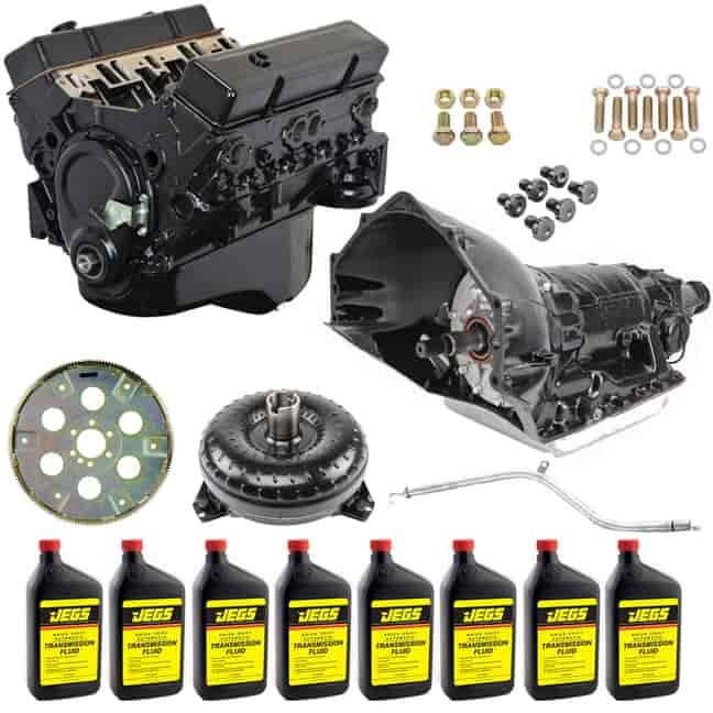 Jegs 3831 Small Block Chevy 383 Ci Crate Engine Transmission Kit Automatic Th350 Jegs