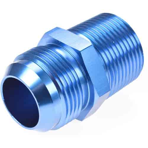 Blue Anodized Aluminum Water or Oil Fuel Fitting 1//2 NPT to 1//8 NPT Pipe Straight Gauge Sensor Reducer Bushing Adapter