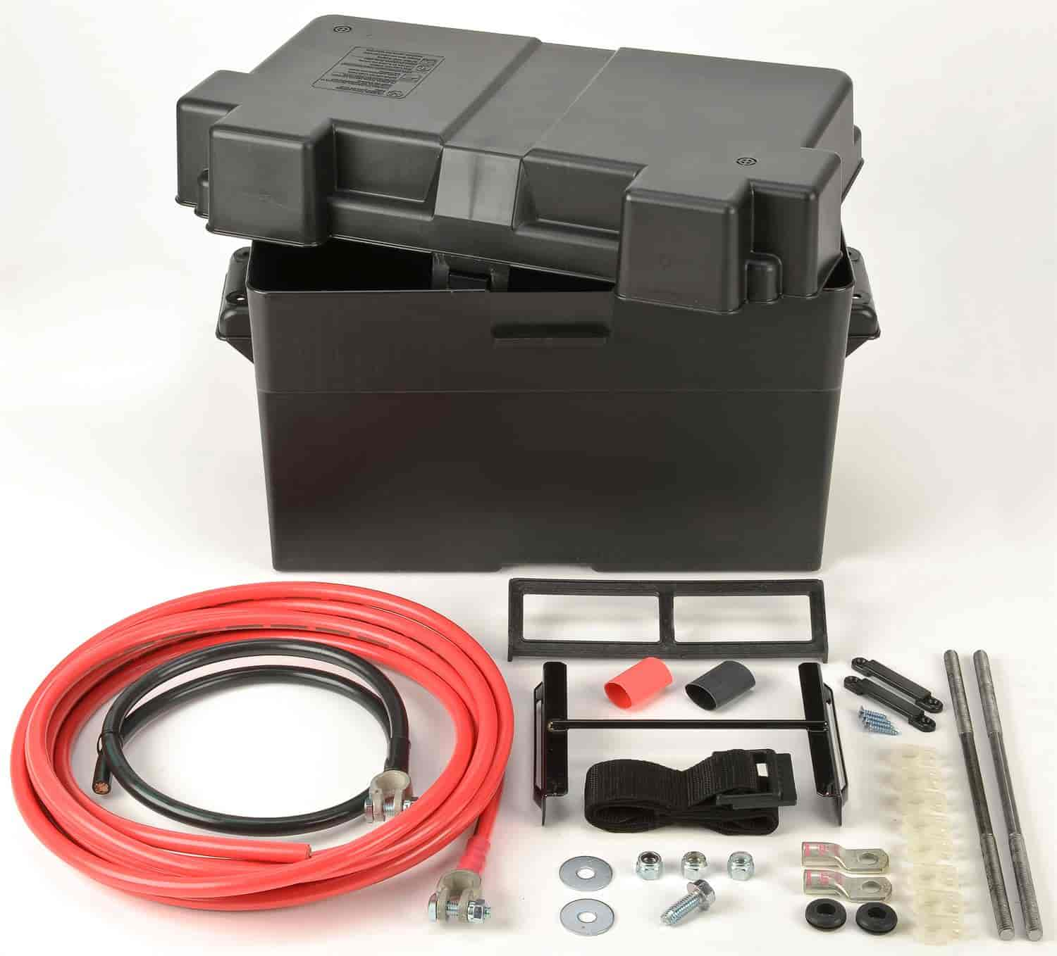 JEGS Performance Products 10278 - JEGS Trunk Mount Battery Box Kit