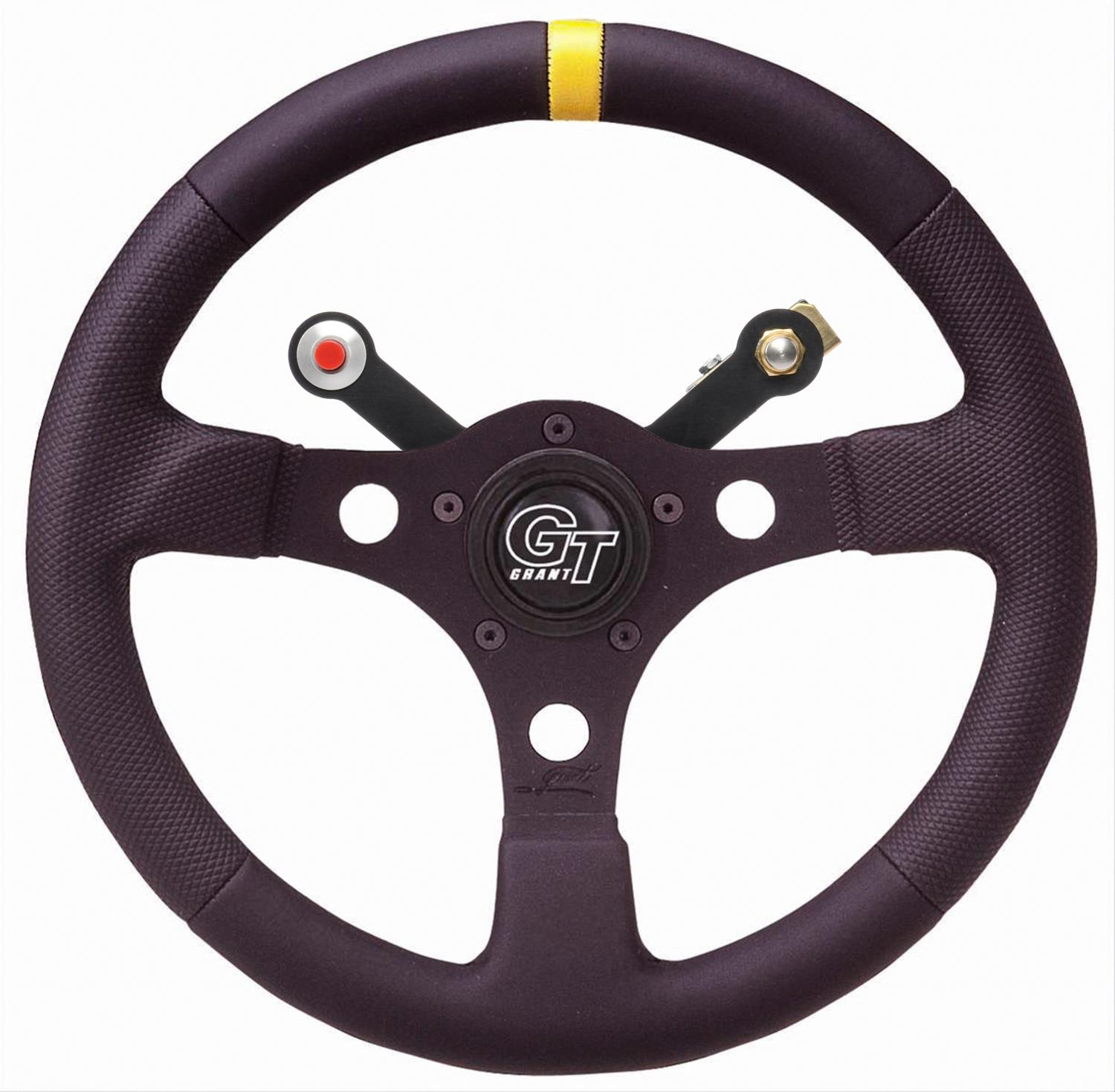 "Grant Racing Performance GT Series 13/"" Aluminum Steering Wheel W//Coiled Button"