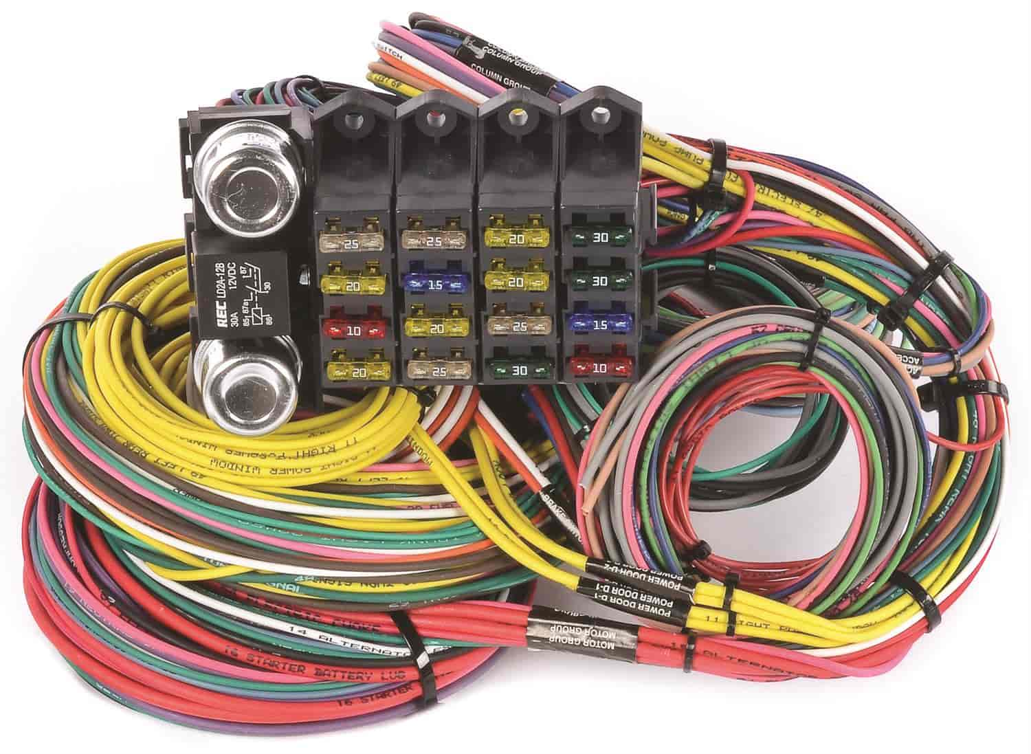 jegs performance products 10405 universal wiring harness 20 rh jegs com universal wiring harness labeled universal wiring harness 20-circuit