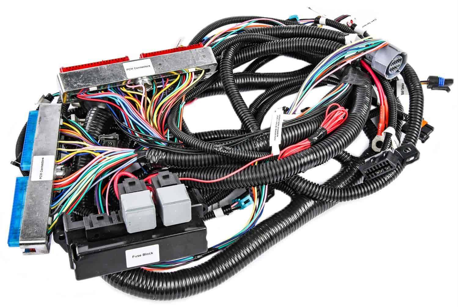 JEGS 10414: LS Stand Alone Wire Harness   1999-2006 GM Vortec Engine Truck    Drive-by-Cable applications with LS1 intake manifold and 4L60E  transmissions   4L60E & 4L80E transmission   Standard Length Harness   JEGS   Vortec Wiring Harness      JEGS