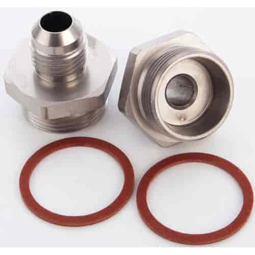 JEGS Performance Products 105500 - JEGS Carburetor Fuel Inlet AN Fittings