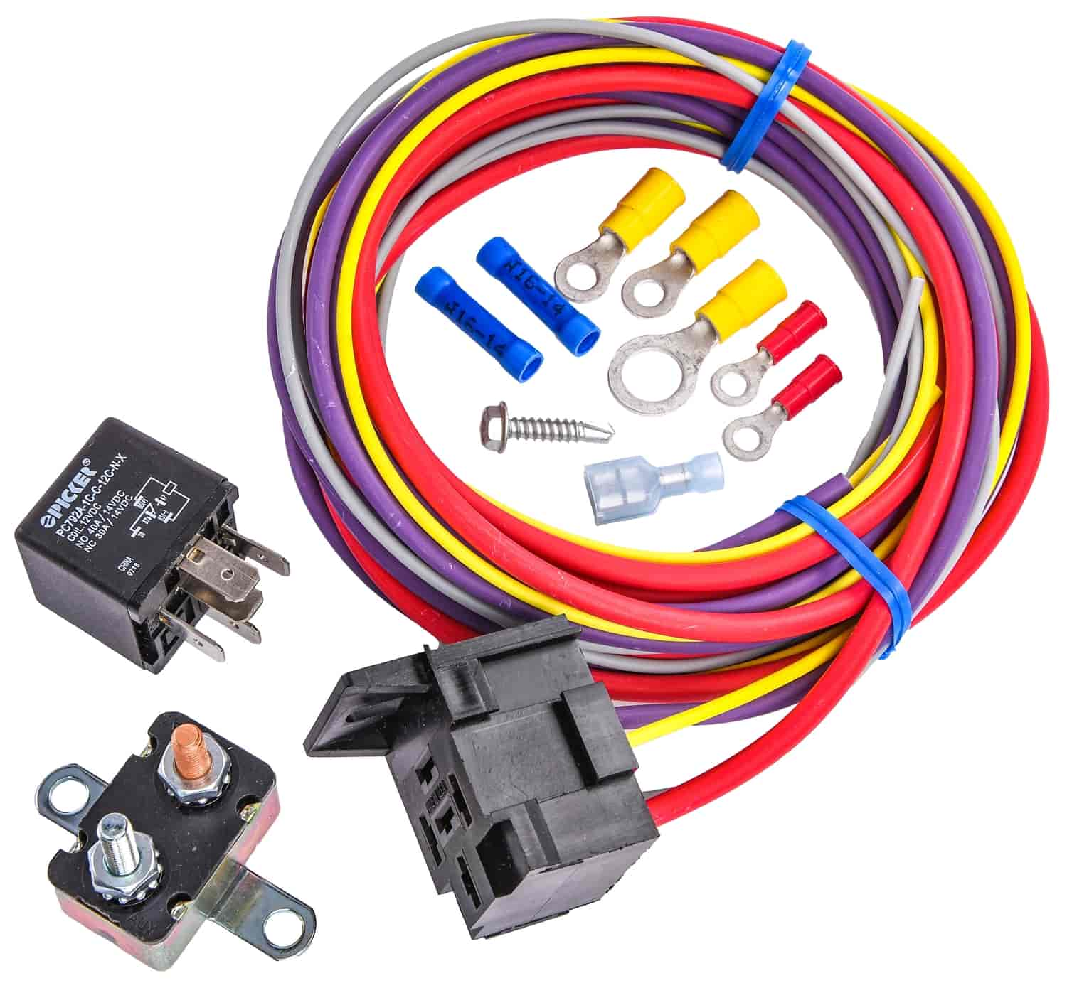 jegs single fuel pump harness and relay kit 30 amp Wiring Harness for Carburetor