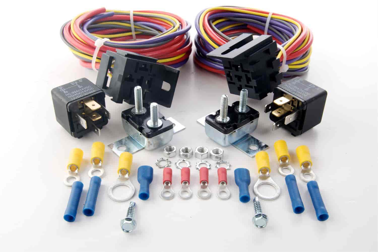 jegs dual fuel pump harness and relay kit 30 amp  jegs 10566