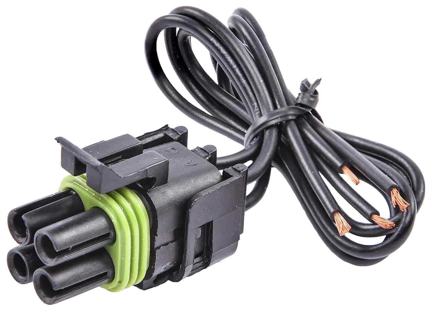 JEGS 10779: Weatherpack Pigtail 4-Pin Pigtail Square Male Connector ...