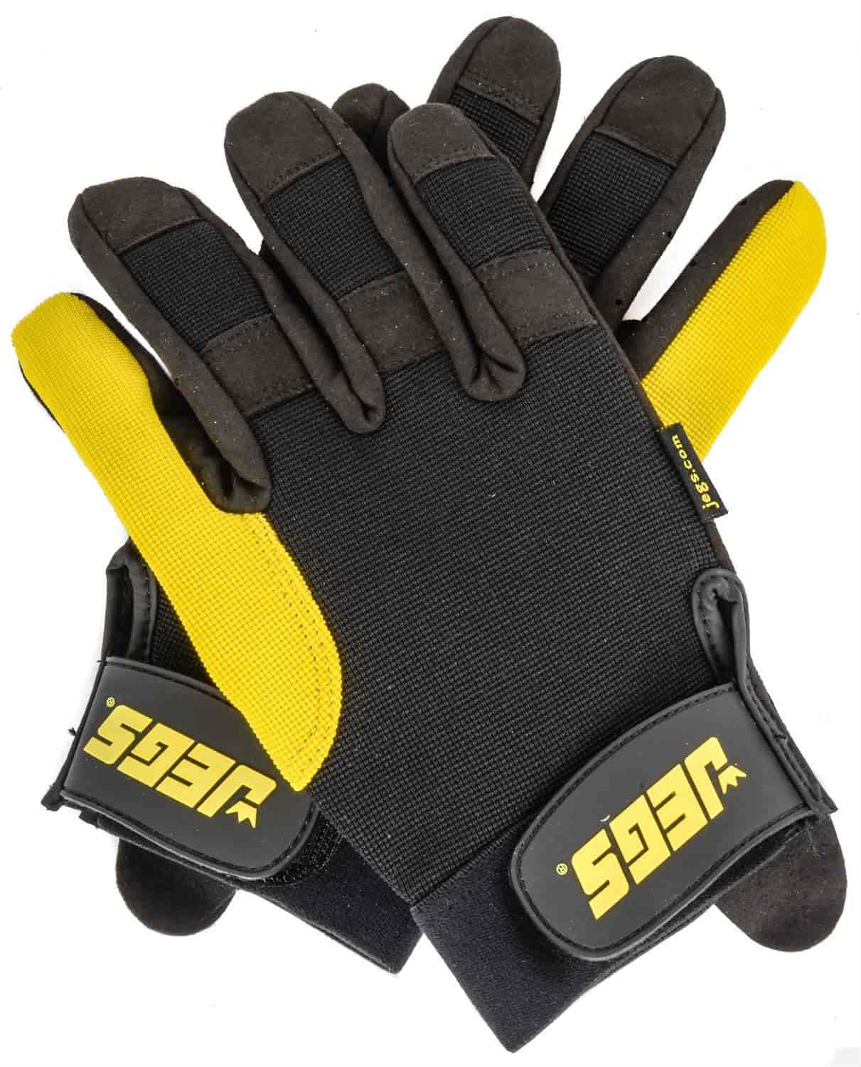 JEGS Performance Products 1112 - JEGS Mechanics Gloves with Gel Padding