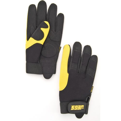 JEGS Performance Products 1111 - JEGS Mechanics Gloves with Gel Padding