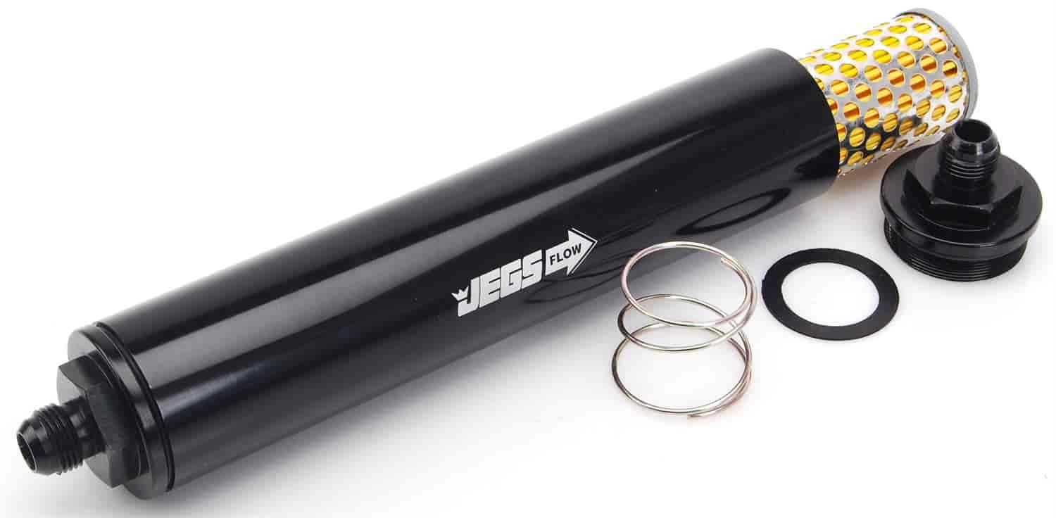 JEGS Performance Products 150070 - JEGS Billet In-Line Fuel Filters, 9'' Long